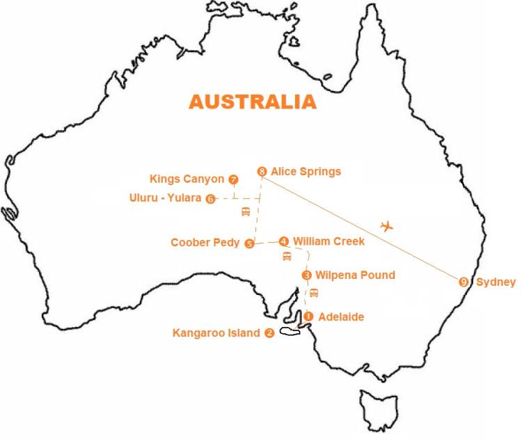 Mappa viaggi-australia