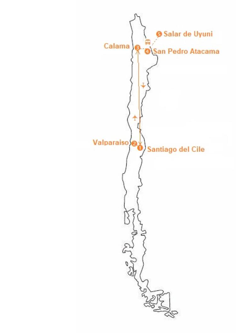 Mappa viaggi-cile