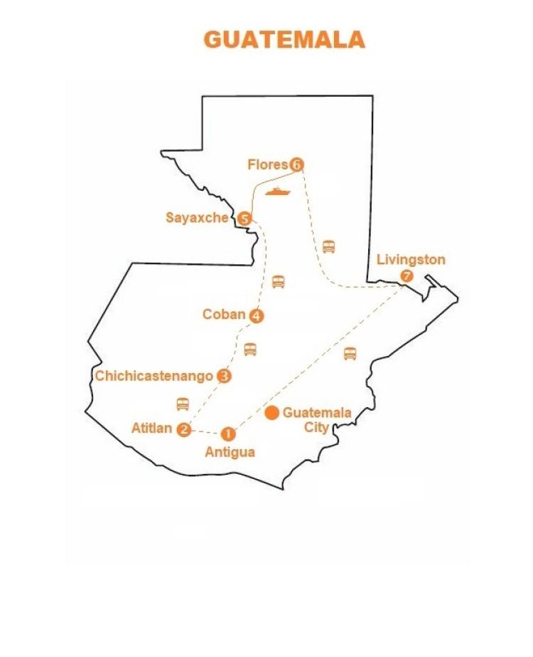 Mappa viaggi-guatemala