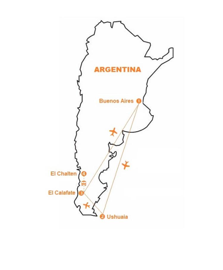 Mappa viaggi-patagonia