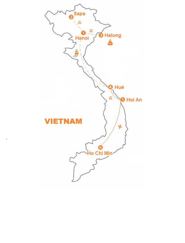 Mappa viaggio-vietnam