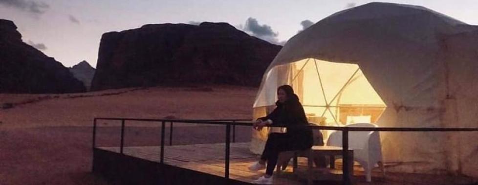 tenda igloo deserto